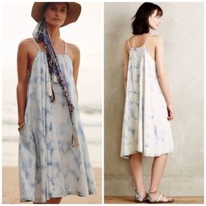 Holding Horses tie dye chambray riviera dress L